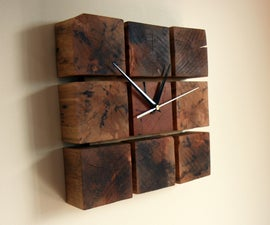A Clock From Pallet Wood Blocks