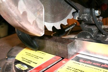 Cut Ends Off of Blackwood, Glue & Clamp to Oak