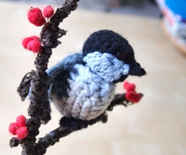 Singing Crochet Chickadee