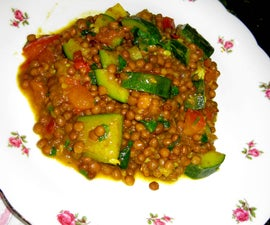 Zucchini and Lentil Curry!