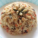 Jasmine Green Tea Infused Vegan Fried Rice