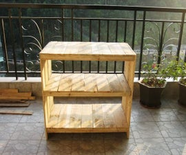 The storage rack made from recycled materials