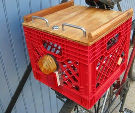 Lockable Cover for Bicycle Milk Crate