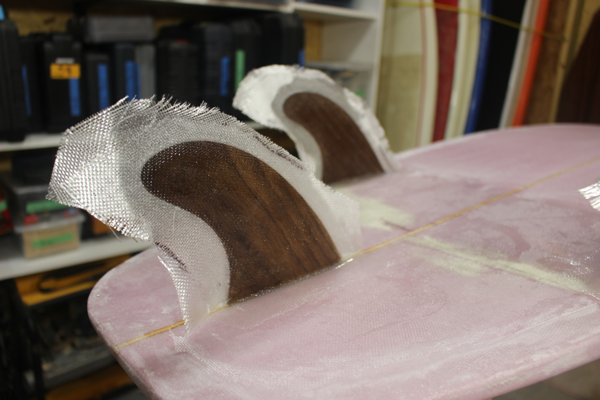 Picture of Glassing on Fins