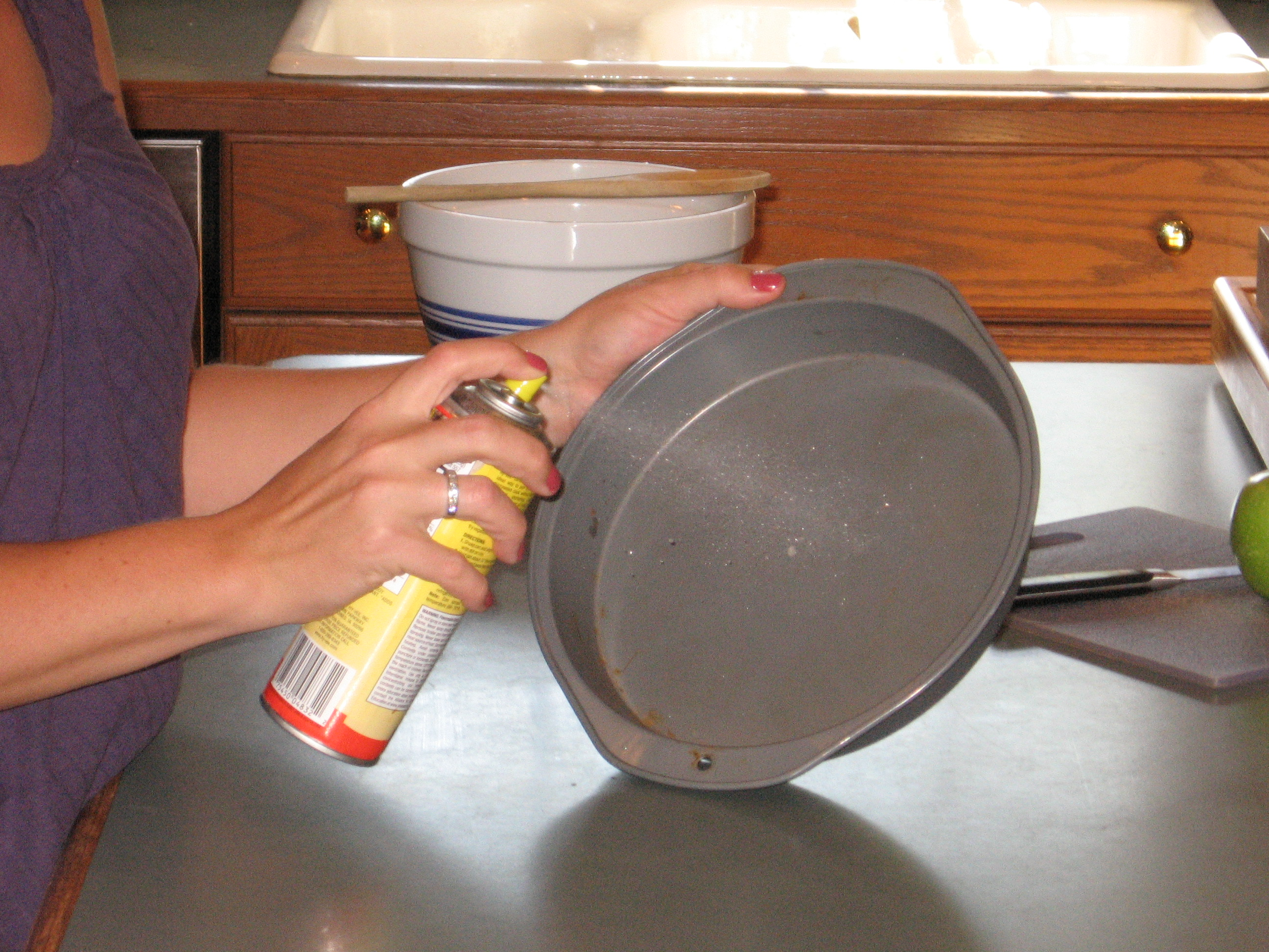 Picture of Preheat Oven and Grease a Cake Pan