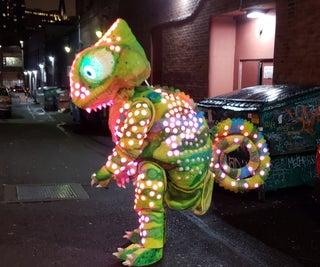LED Color Sensing Chameleon Costume