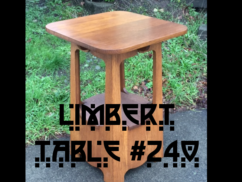 Picture of Heirloom Quality Quartersawn White Oak Limbert Table #240 W/ Authentic Ammonia Fumed Finish