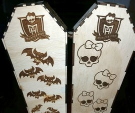 Laser Cut and Engraved Coffin