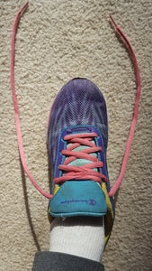 Start With the Laces Straight on Either Side of the Shoe.