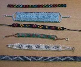How To Make A Beaded Bracelet On A Cardboard Box Loom
