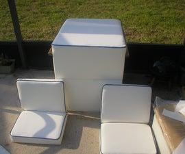 Making new marine vinyl boat seats