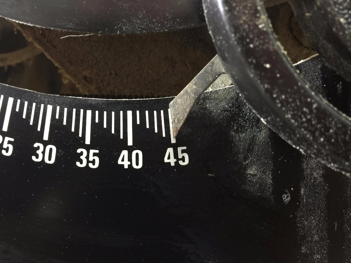 Picture of Check Your 45 Degree Bevel Stop