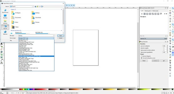 Exporting to DXF: