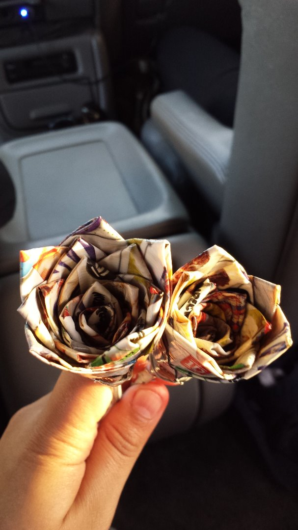 Picture of One Direction Duct Tape Flower
