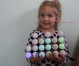 Ping Pong Ball Full colour Binary Clock