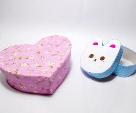 DIY Gift Box in Cute Shape (Not Origami Method)