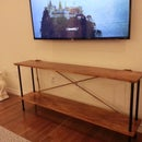 $100 Industrial console table -  Rope, Wood & Iron
