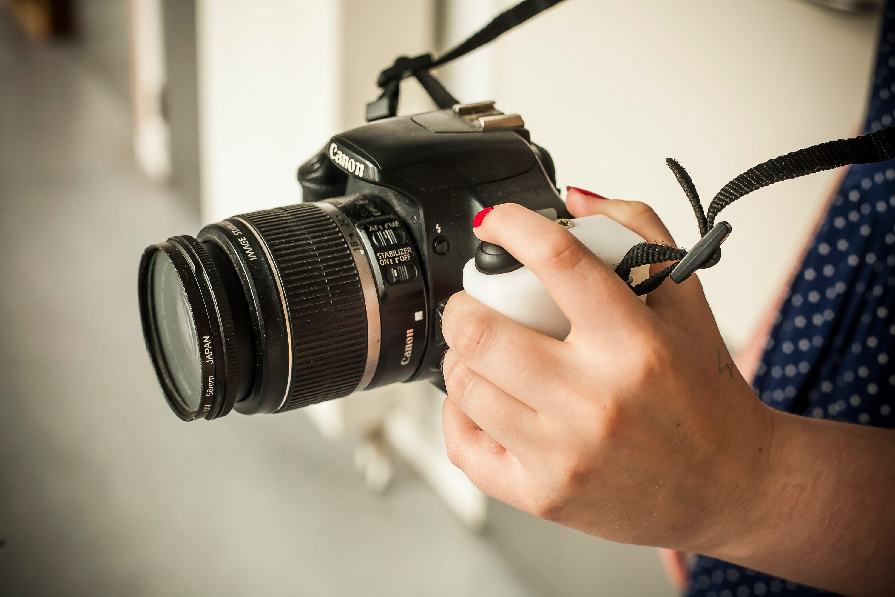 Picture of D4E1 Left Handed Camera Aid. Advanced Version.