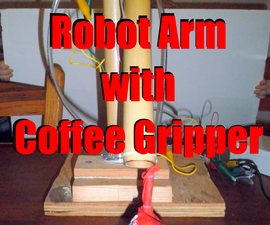 Robot arm with coffee gripper