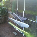 < 5$ outdoor surfboard rack ( Wall hooked) from up-cycled PVC pipes