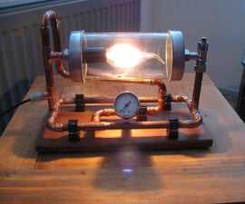 steampunkstyle lamp