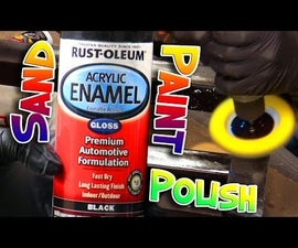 How to Fix, Sand and Polish Spray Paint