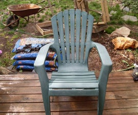 Breathe New Life (renew) Into an Oxidized PVC Deck Chair Ready for Tha Landfill.