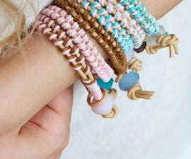 Leather bracelet DIY