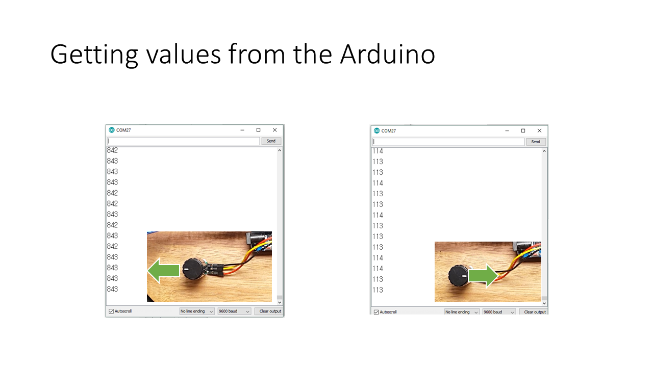 Picture of Getting Values From the Arduino