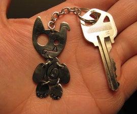Embossed Keychain Monster