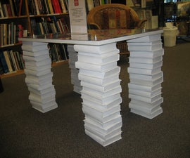 make table legs out of books