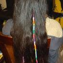 How to make creative hair wraps