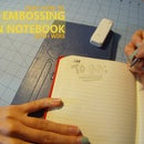 Easy Embossing on Notebook with Wire