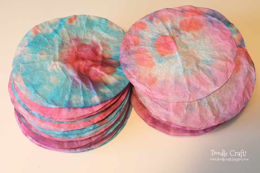 Coffee filter flowers great for valentines day and spring 6 picture of dye the filters mightylinksfo