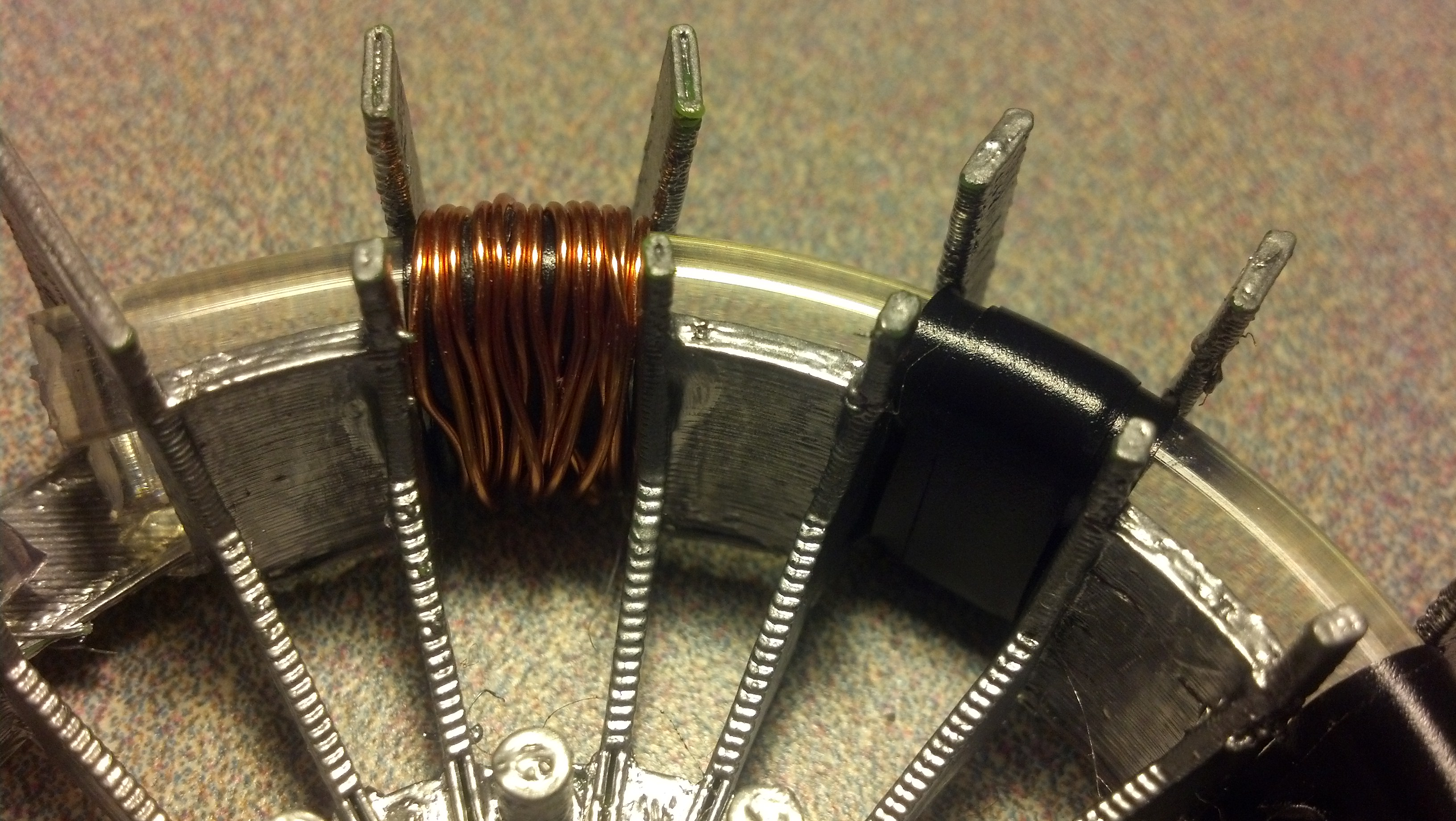 Picture of Lower Assembly, Part 2 : Copper Coils