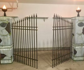 How to Build Halloween Cemetery Entrance Pillars & Gate