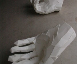 """""""Taliban Hands"""" Sculptures in Corrugated Plastic from MOH Extracted 3D Data"""