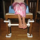 Footrest helps kids sit comfortably at the table