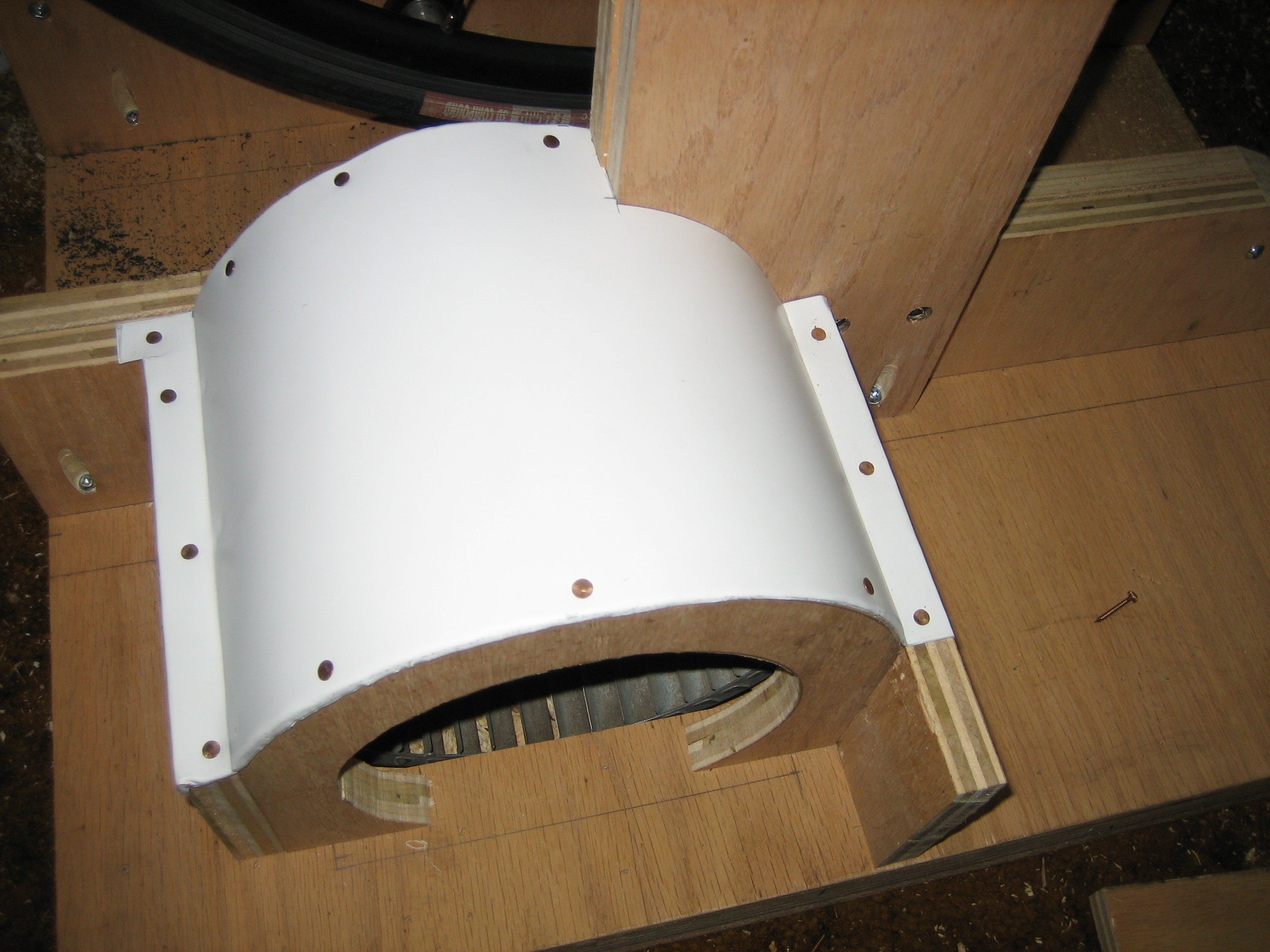 Picture of Wrapping the Fan in Aluminum
