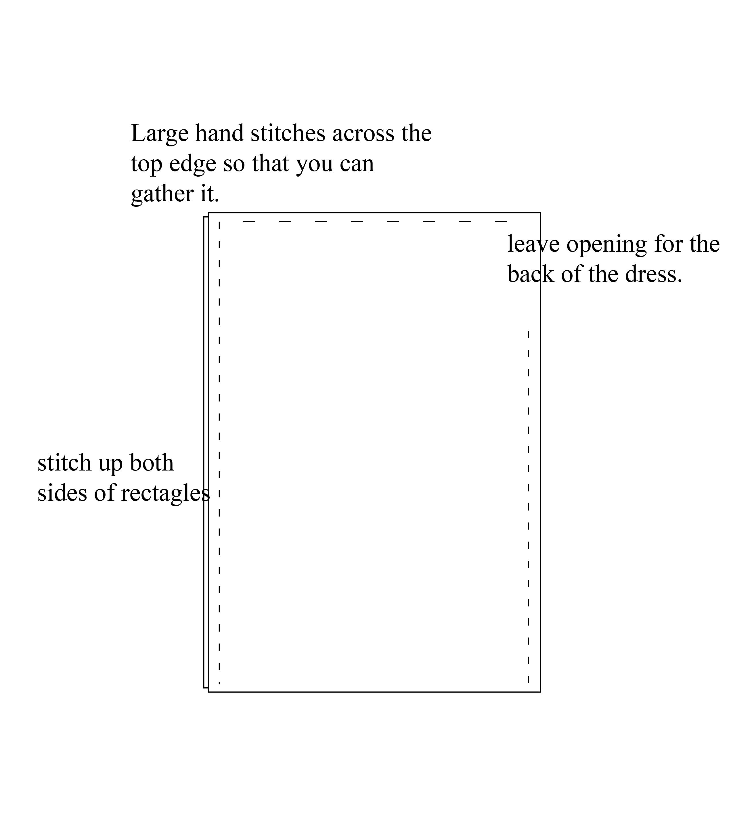 Picture of Step 1:Pattern the Overdress