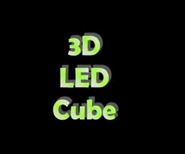3D LED Cube With Animation to the Music Rhythm