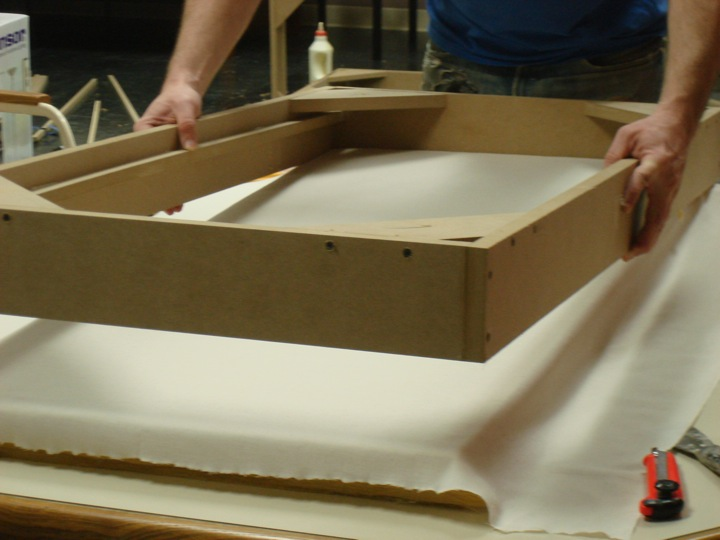 Picture of Add the Fiberglass Retaining Moulding