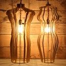 Man & Woman Sculptural Pendant Desk Lamps