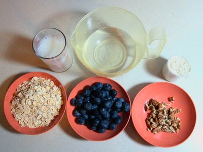 Ingredients for High-Protein Oatmeal