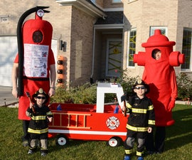 Fight Fire Family Halloween Costumes