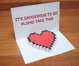 Zelda Pop-Up Valentine Heart Card