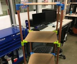 Lightweight, Deconstructable 5' Shelf