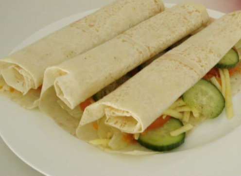 Picture of Cheese and Salad Wraps