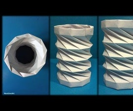 Tutorial 10 Collapsible Paper Tower Helix Decagon
