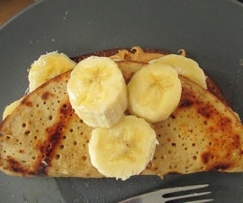 Easy Gluten Free Peanut butter and Banana Crepes